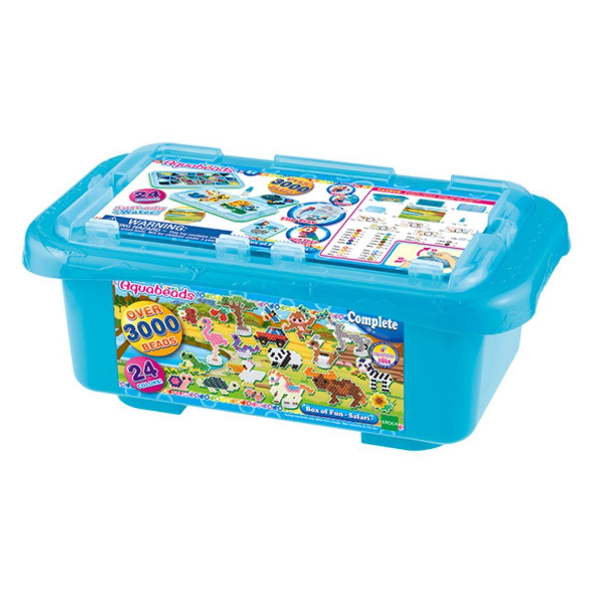 Brinquedo Aquabeads Caixa Box Of Fun Safari Epoch 32808  - Game Land Brinquedos