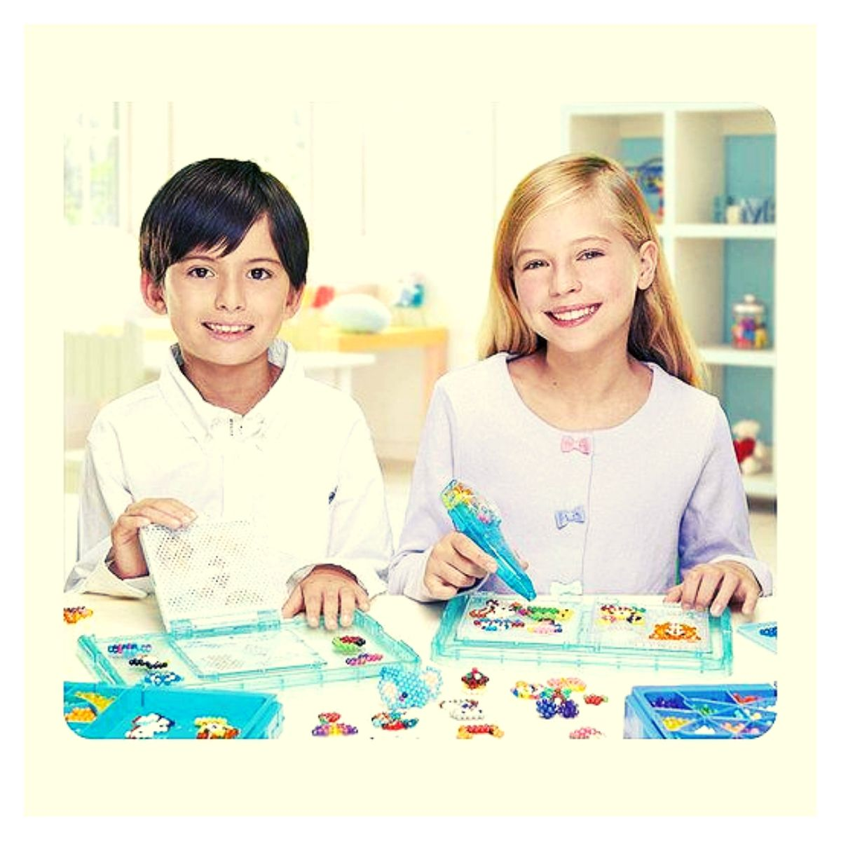 Brinquedo Aquabeads Kit  Deluxe Studio Epoch 32798  - Game Land Brinquedos