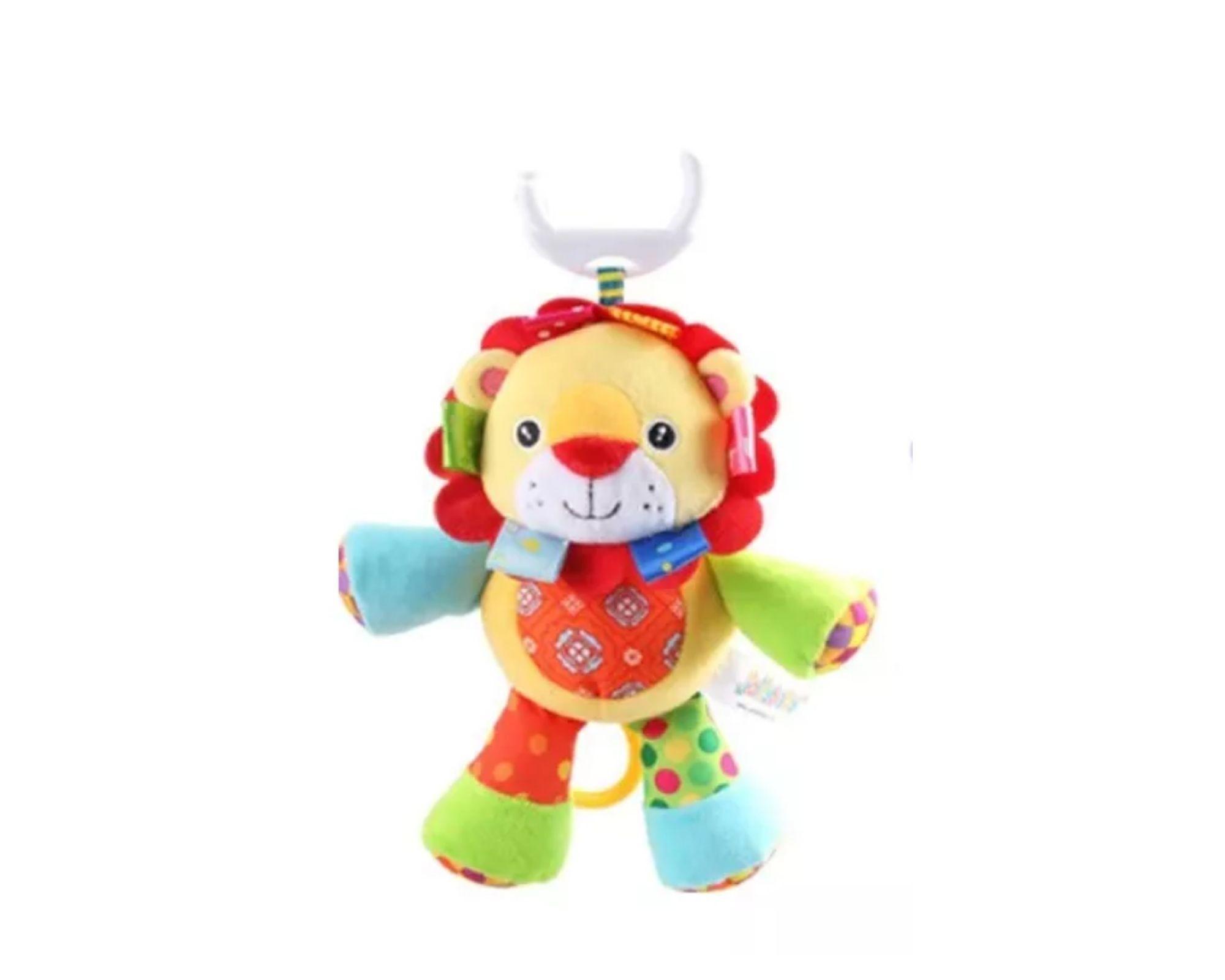 Brinquedo Chocalho Musical de Pelucia Leão para bebê Interativo  - Game Land Brinquedos