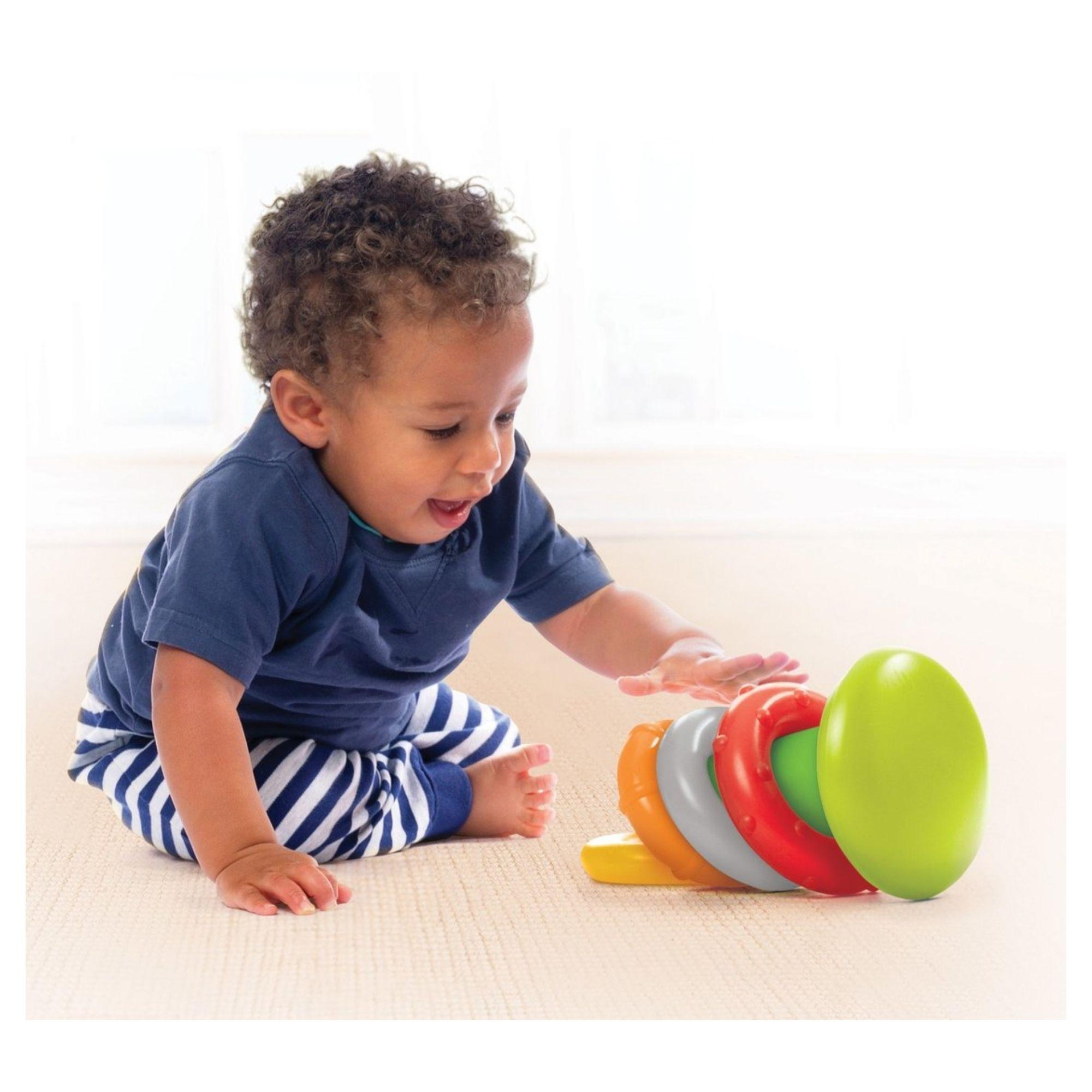 Brinquedo de Argolas Empilháveis Interativo Infantino  - Game Land Brinquedos