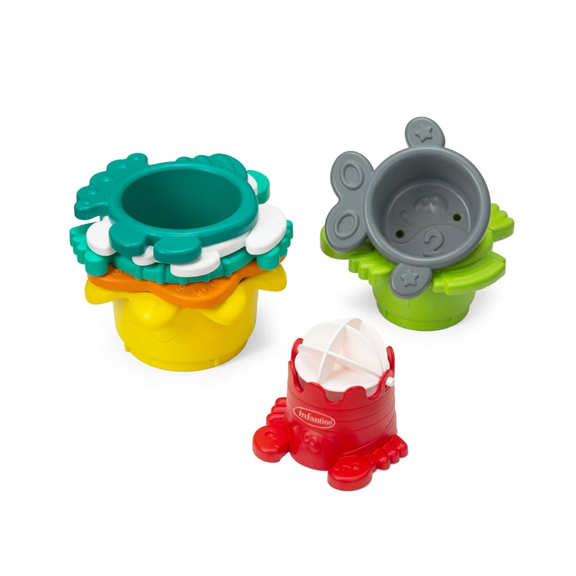 Brinquedo de Banho para empilhar Infantino   - Game Land Brinquedos