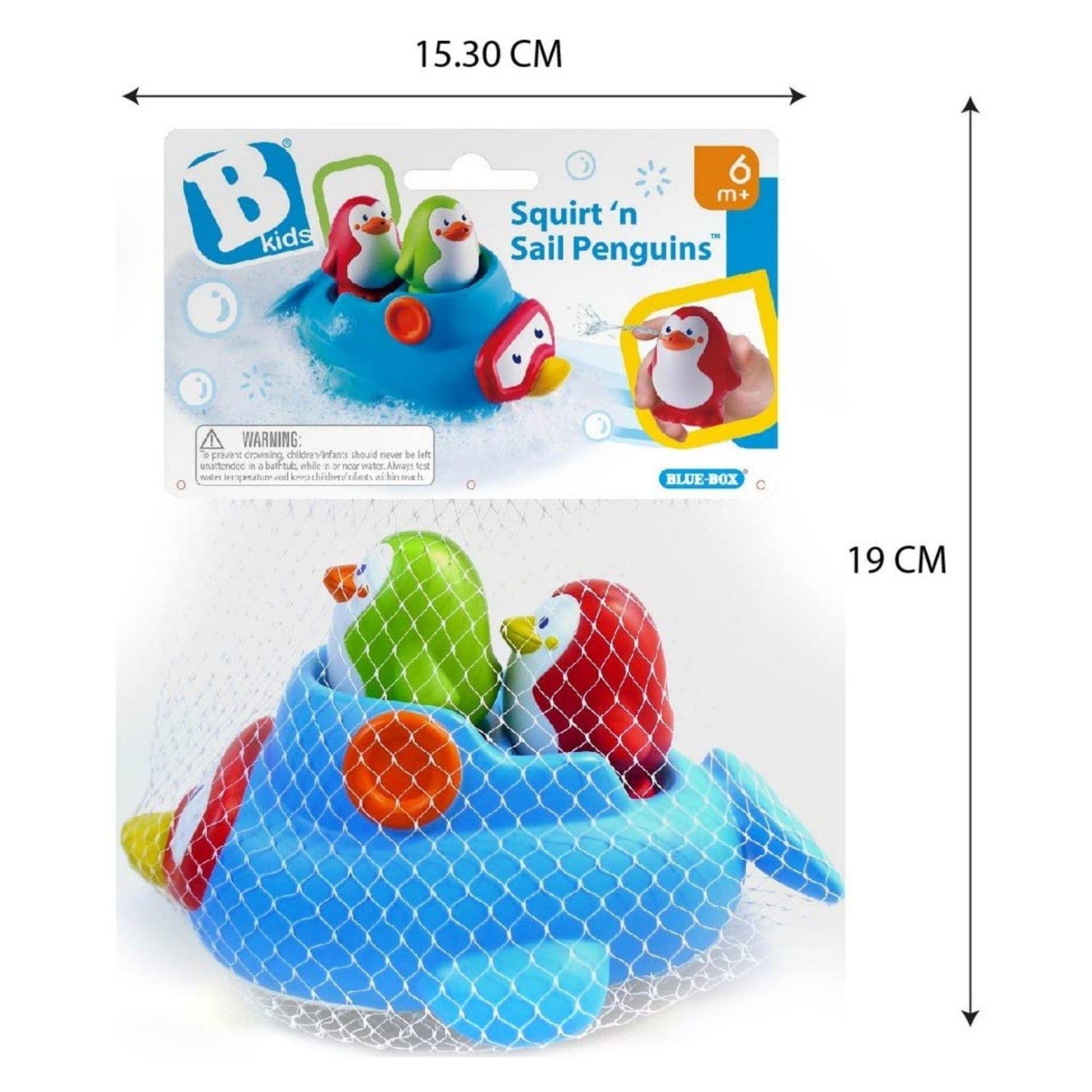 Brinquedo de Banho Pinguins Divertidos Infantino  - Game Land Brinquedos