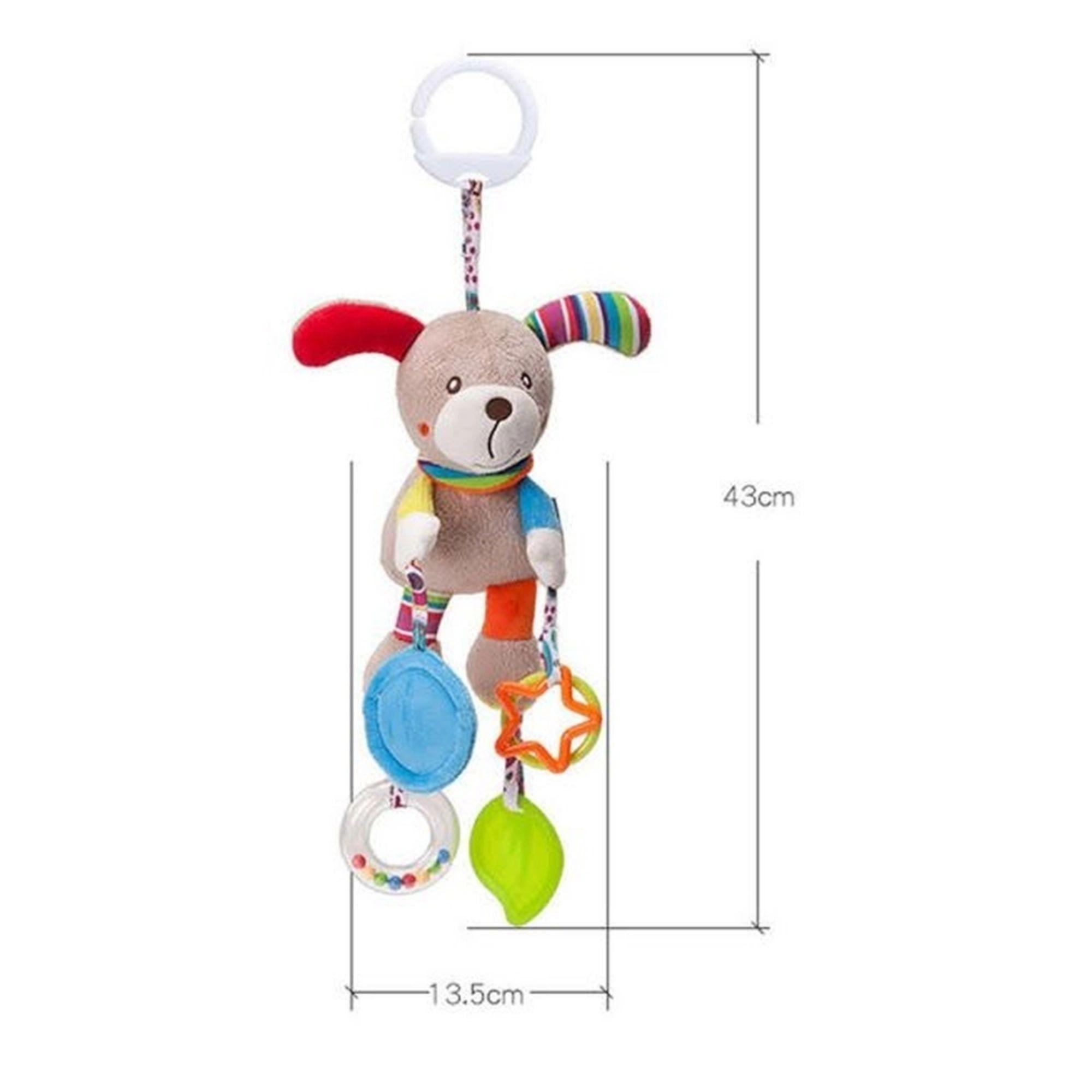 Brinquedo Mordedor para bebê de Pelucia Cachorrinho Mobile e Chocalho  - Game Land Brinquedos