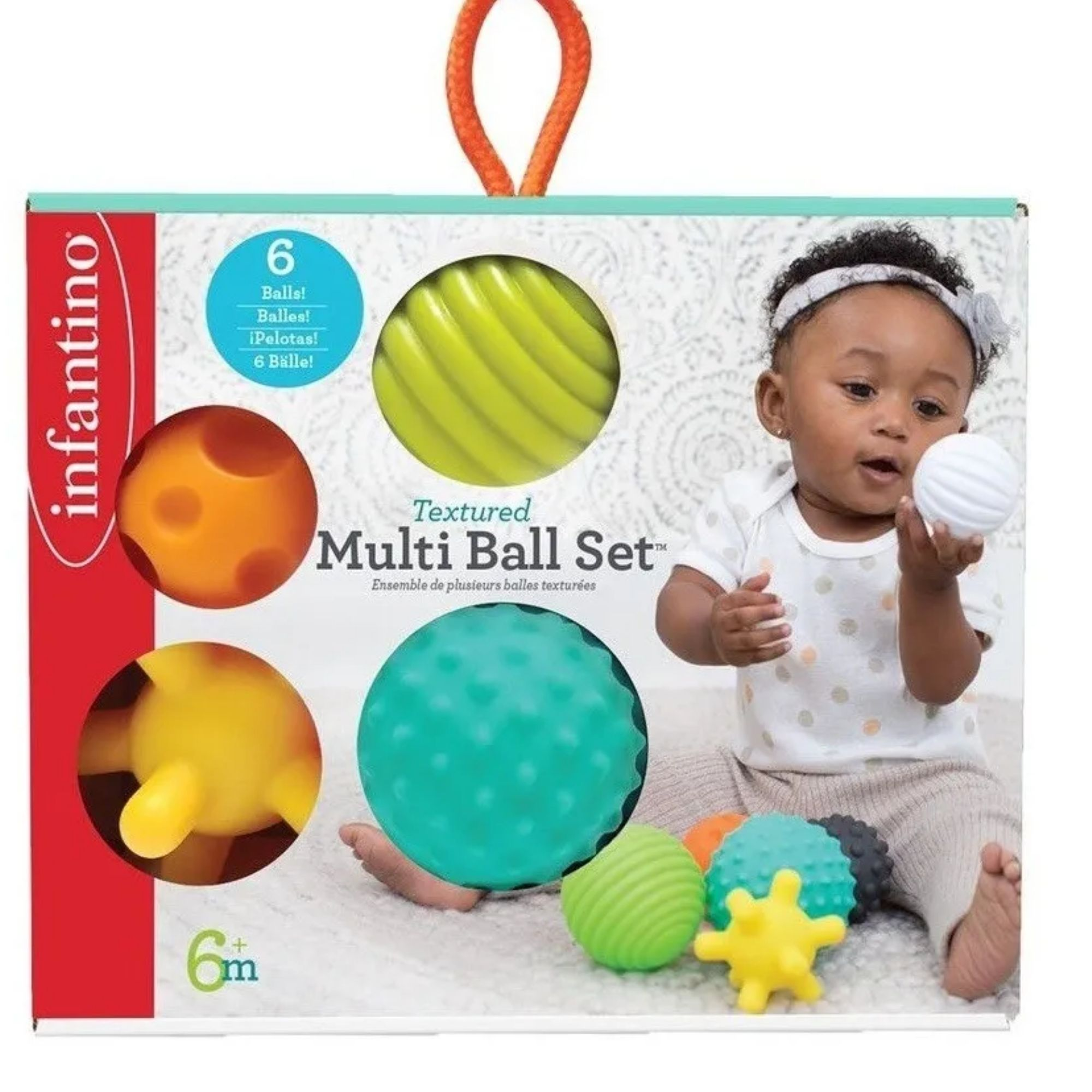 Brinquedo para bebê Bolas de silicone Infantino Texturizada  - Game Land Brinquedos