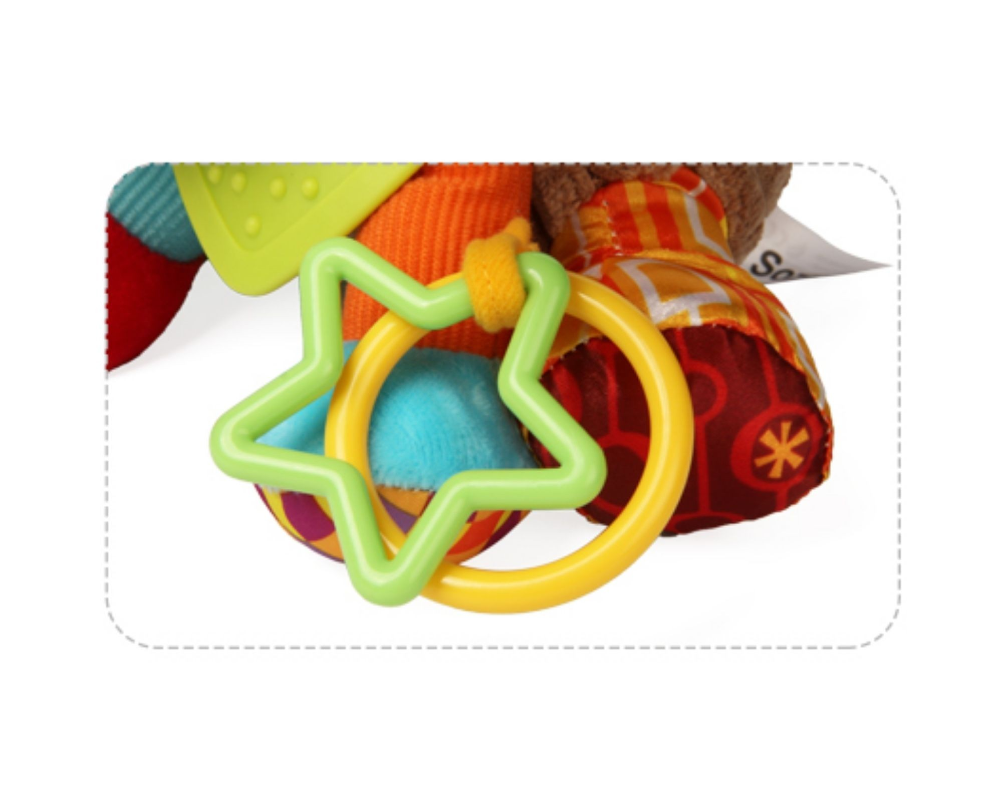Brinquedo para bebê Interativo Mordedor Cachorrinho Sozzy  - Game Land Brinquedos