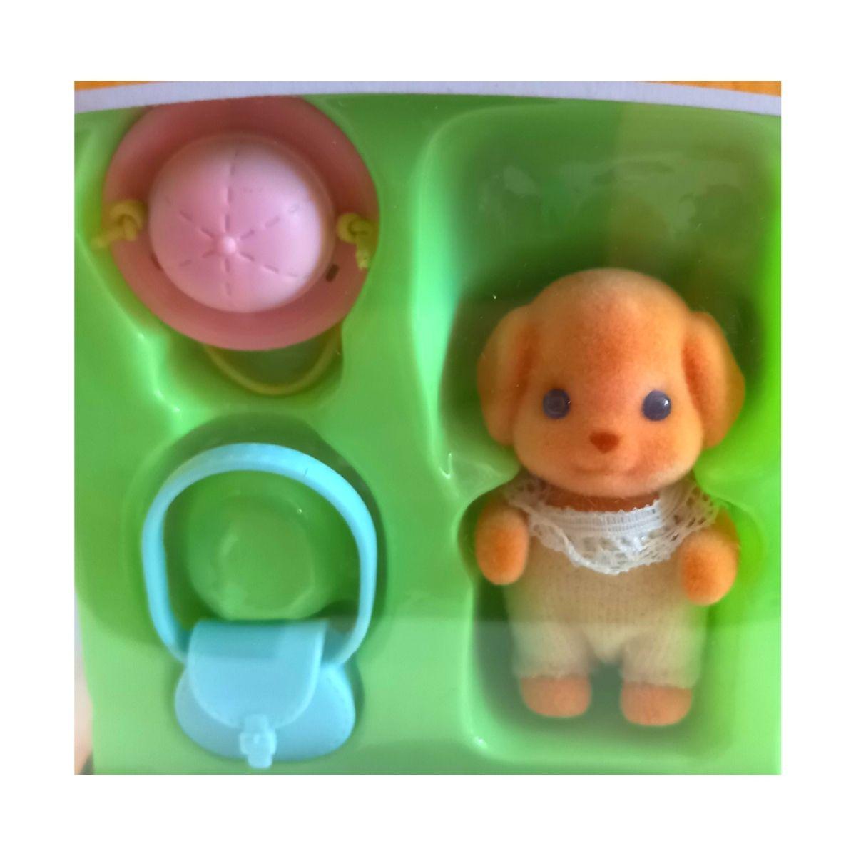 Brinquedo Sylvanian Families Bebê Poodle Toy Epoch 5411  - Game Land Brinquedos