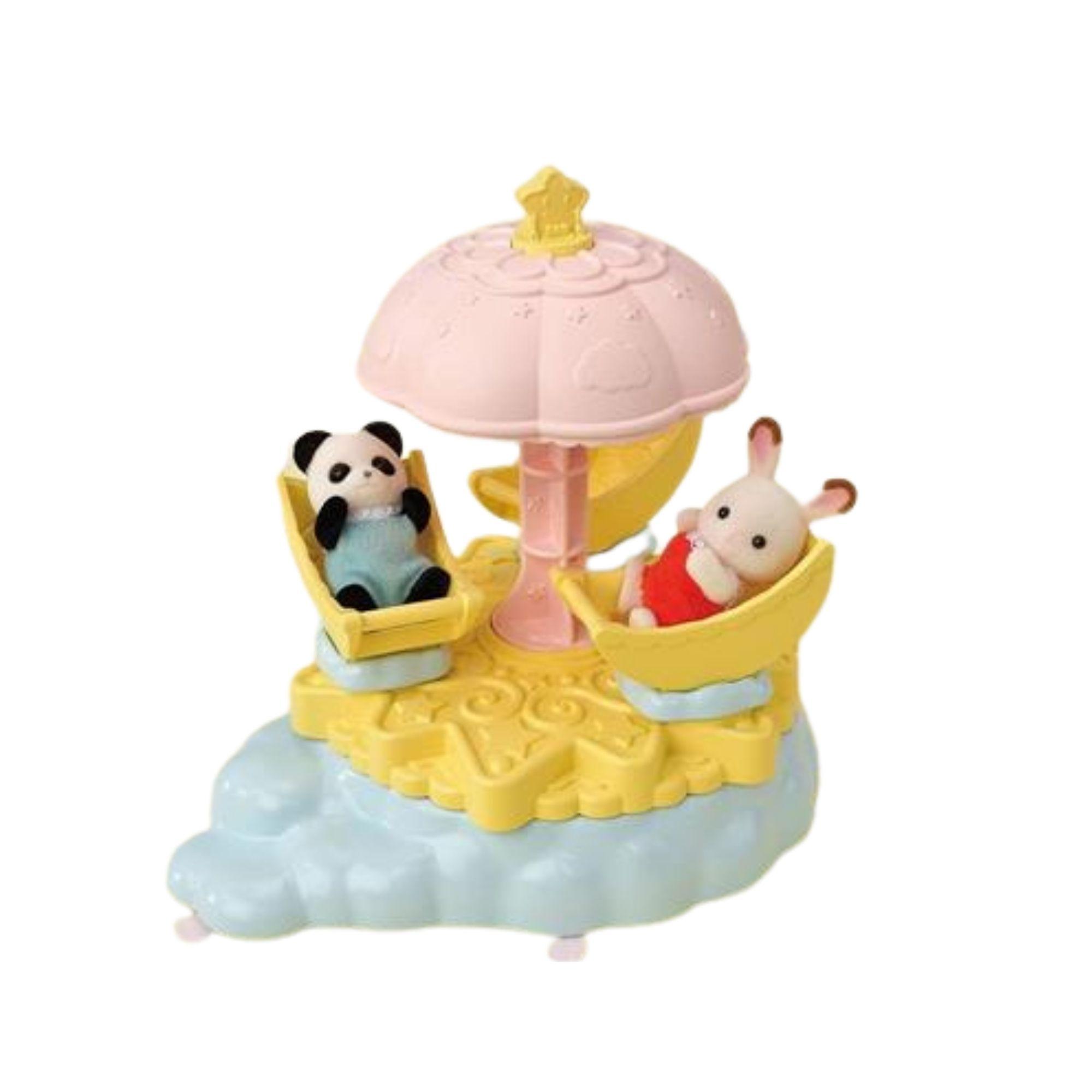 Brinquedo Sylvanian Families Carrossel Estrela Para Bebês Epoch 5539  - Game Land Brinquedos