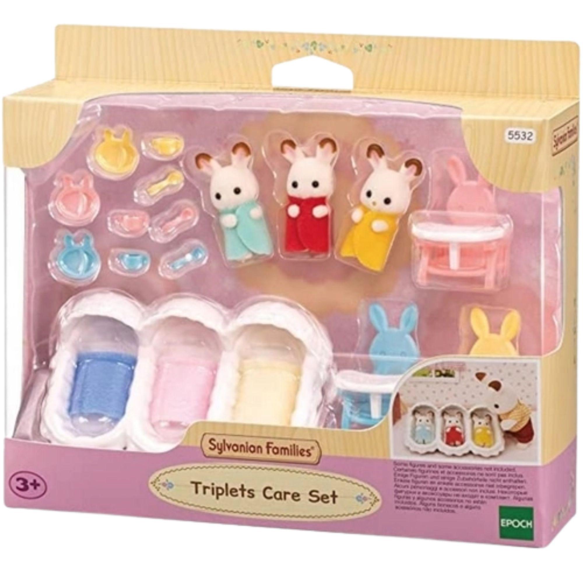 Brinquedo Sylvanian Families Conjunto Cuidando de Trigêmeos Epoch  - Game Land Brinquedos