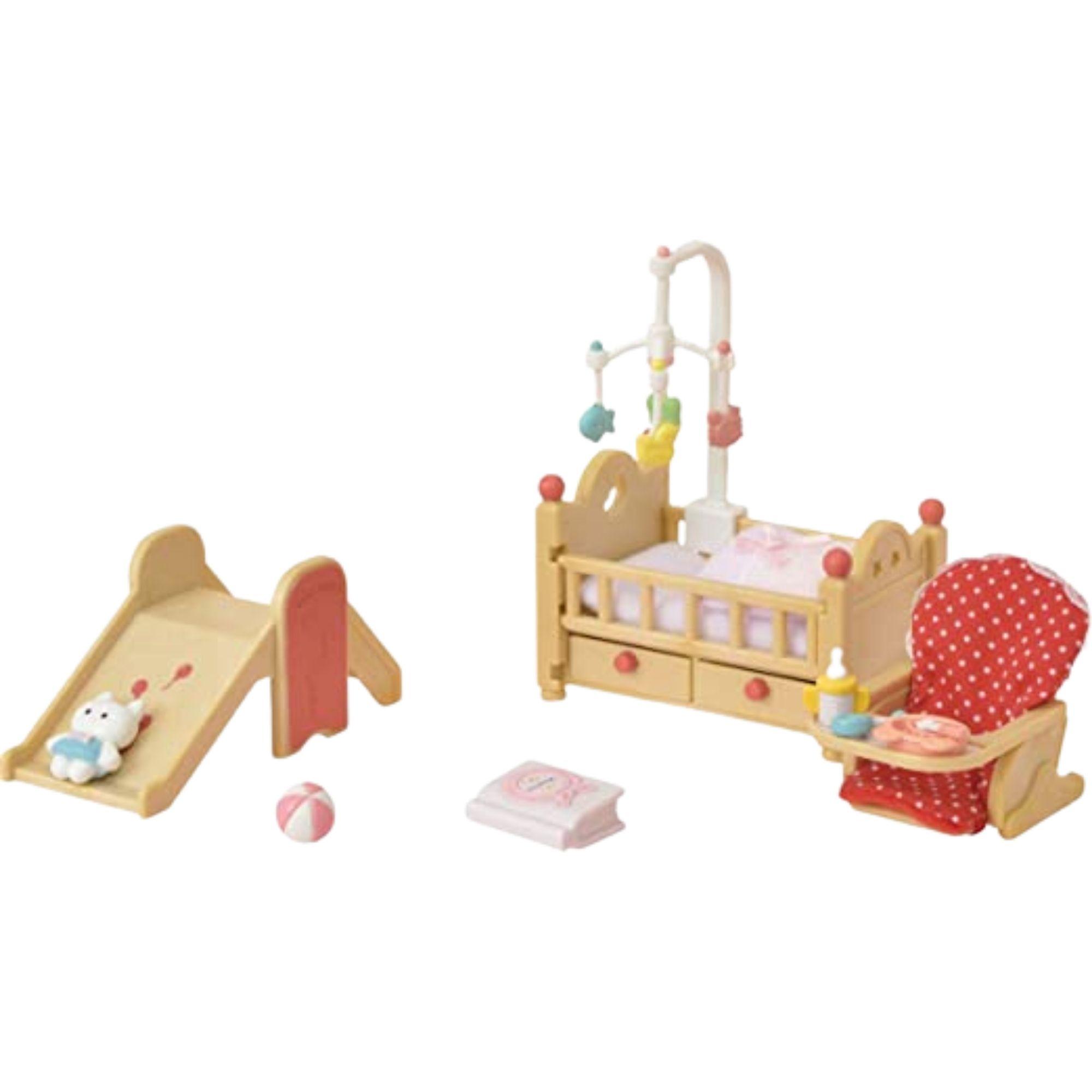Brinquedo Sylvanian Families Conjunto Móveis do Berçario Epoch   - Game Land Brinquedos