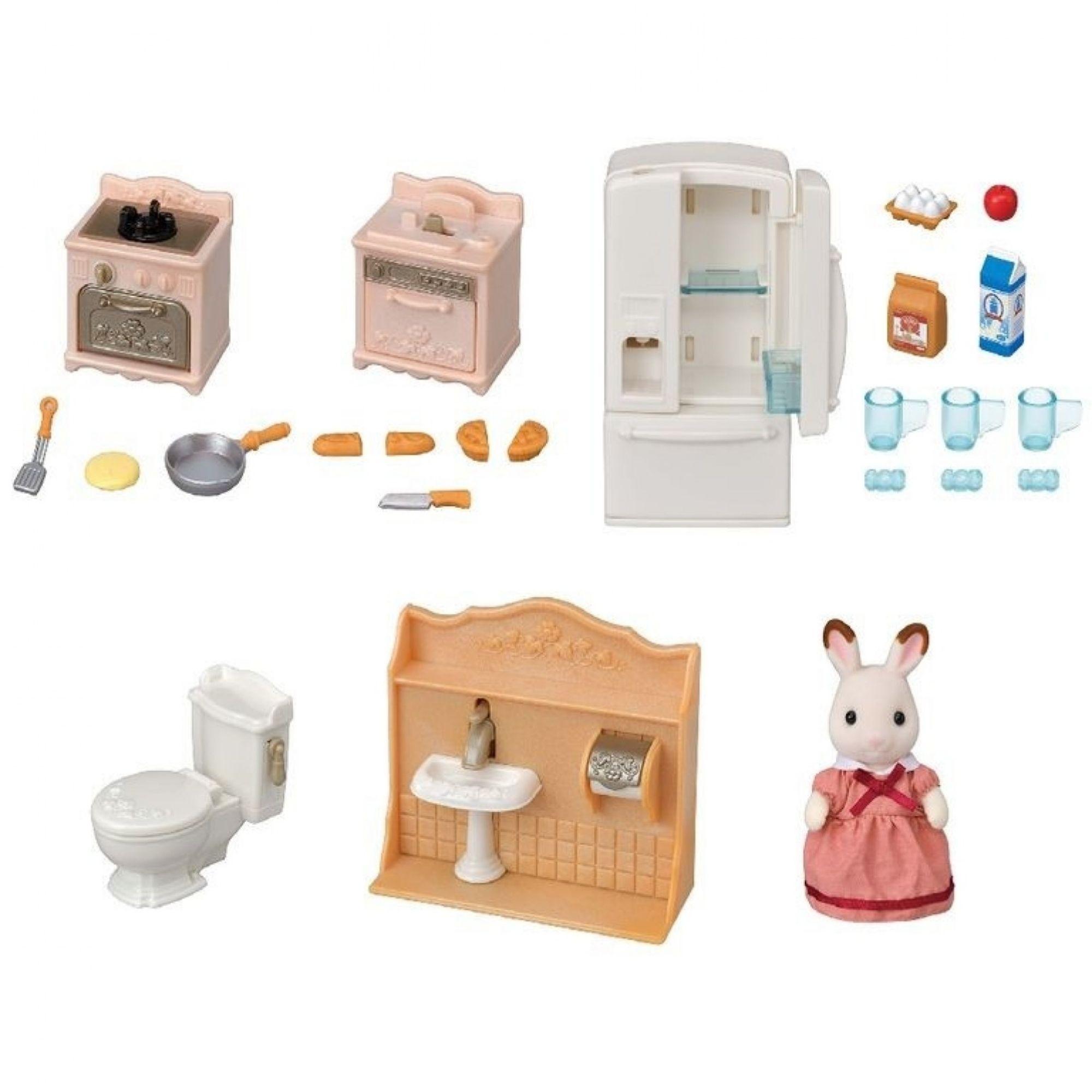 Brinquedo Sylvanian Families Conjunto Primeiros Moveis Divertidos 5449  - Game Land Brinquedos