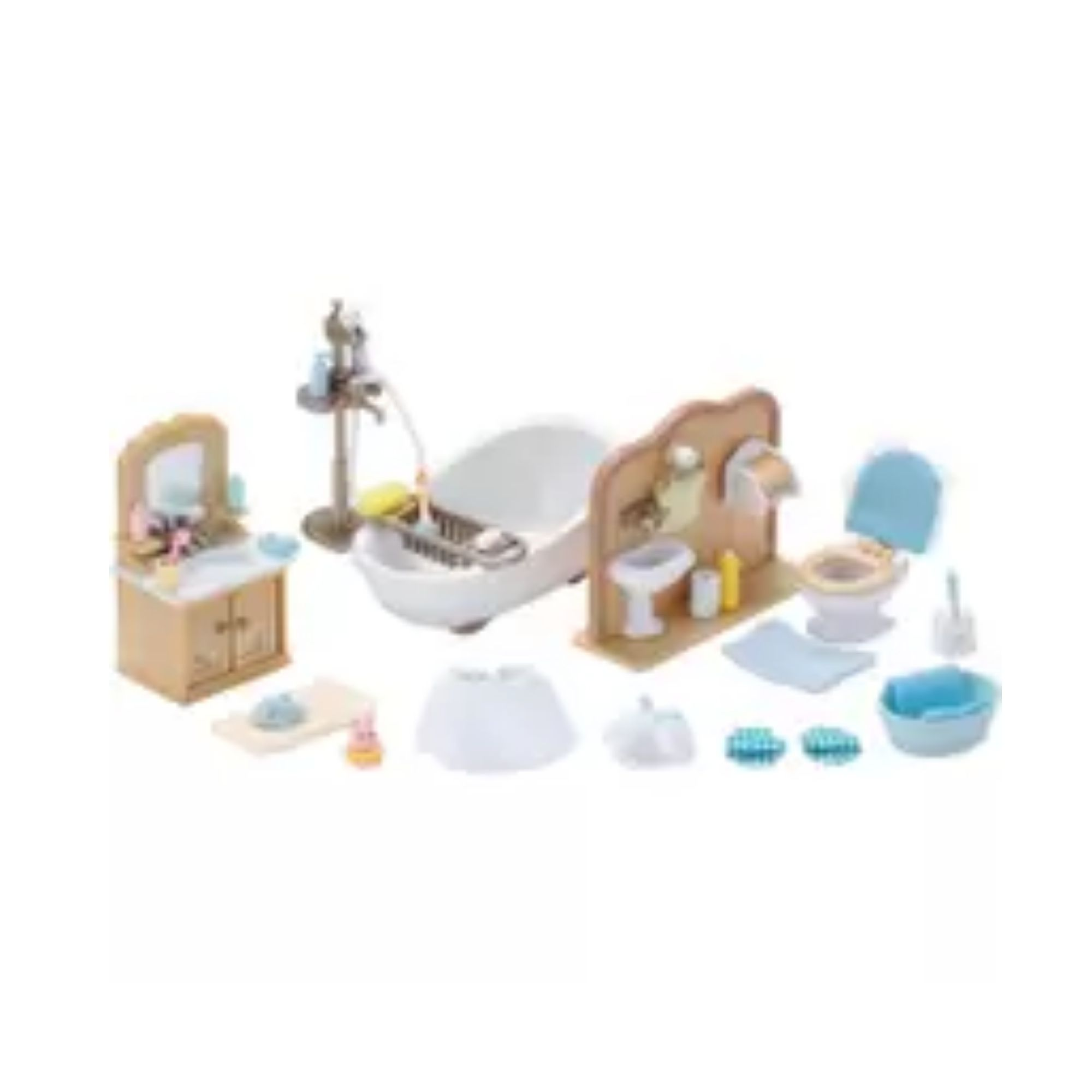 Brinquedo Sylvanian Families Conjunto Toalete e Banho 5286 Epoch  - Game Land Brinquedos