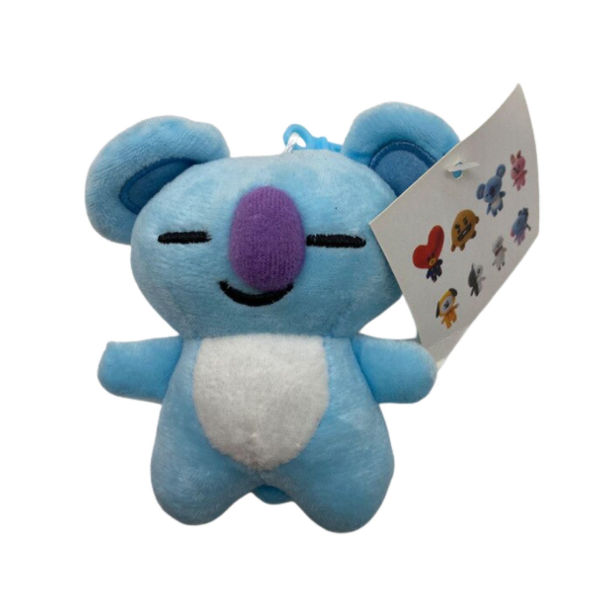 BTS 21 Chaveiro para Mochila Personagens KPop, Koya, Shooky, RJ, Mang  - Game Land Brinquedos
