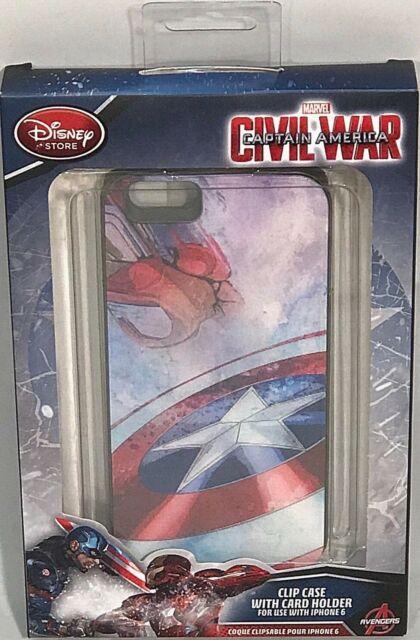 Capa para celular Iphone 6 Marvel Capitão  America Civil War   - Game Land Brinquedos