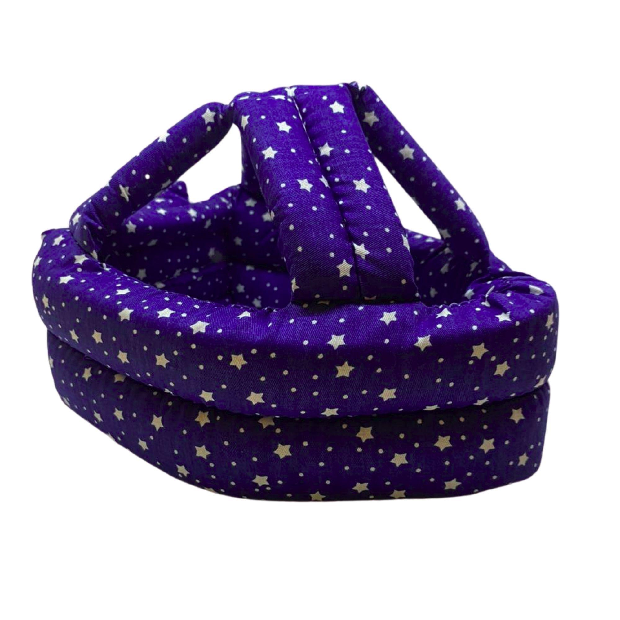 Capacete de Proteção para bebê Engatinhar e Andar Azul com Estrelas  - Game Land Brinquedos