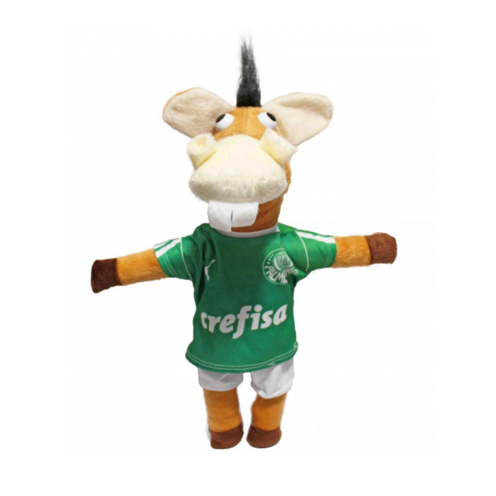Cavalinho Verdão do Time Palmeiras Pelucia  - Game Land Brinquedos