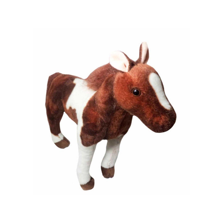 Cavalo de Pelucia Realista Fica em Pé  38 cm  - Game Land Brinquedos