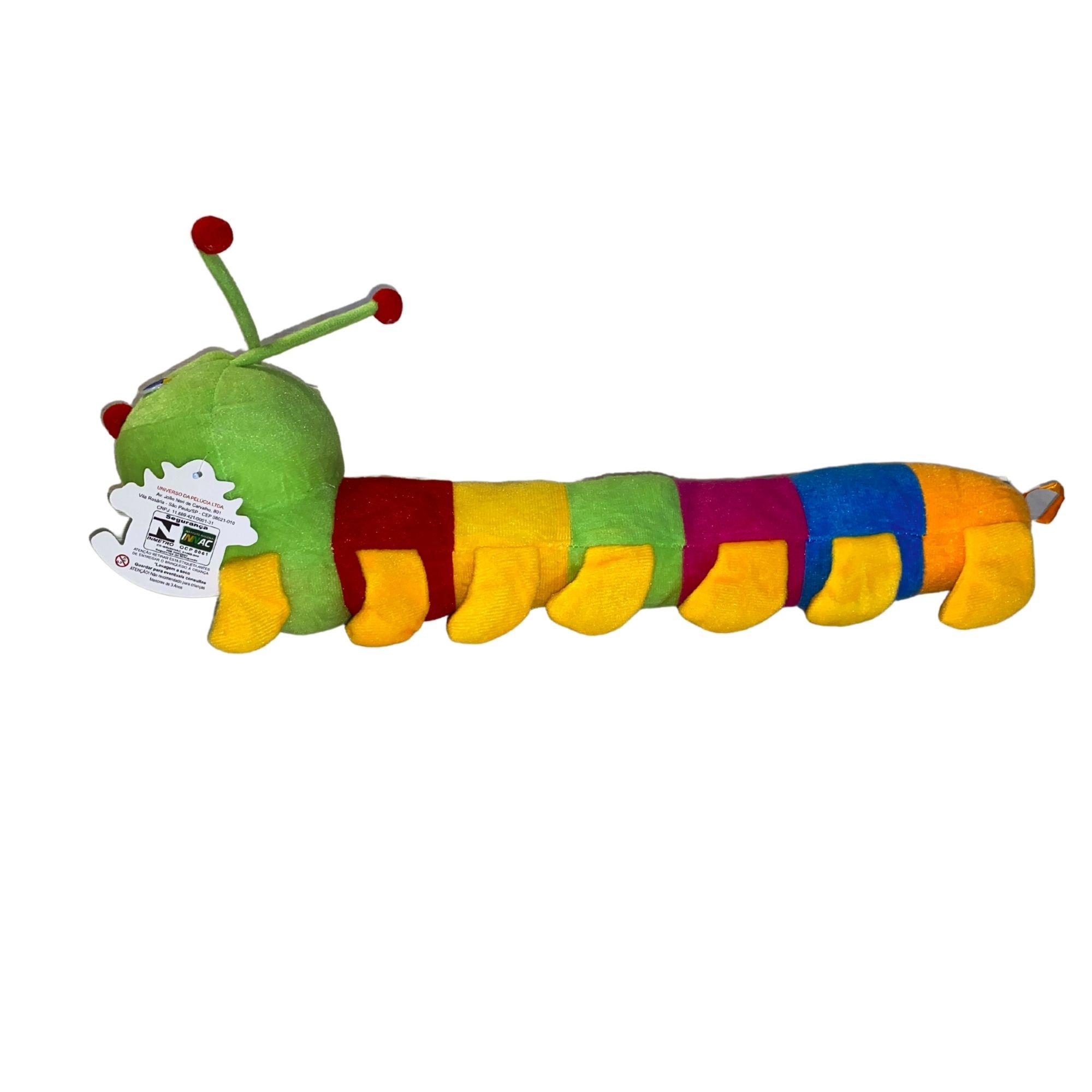Centópeia Bicho de Pelucia Colorida 50 cm  - Game Land Brinquedos