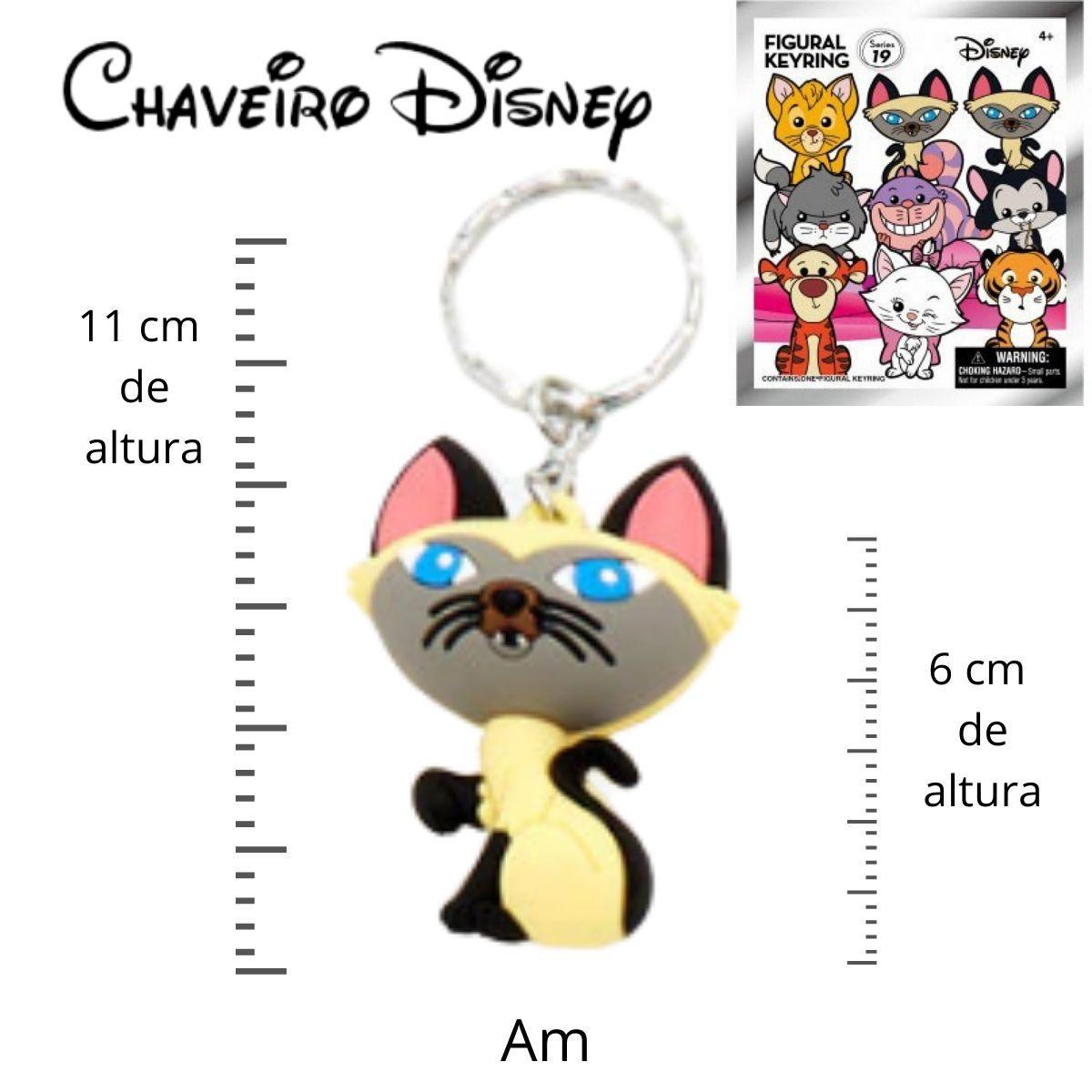 Chaveiro Disney Am Gato Siamês filme A dama e o vagabundo  - Game Land Brinquedos
