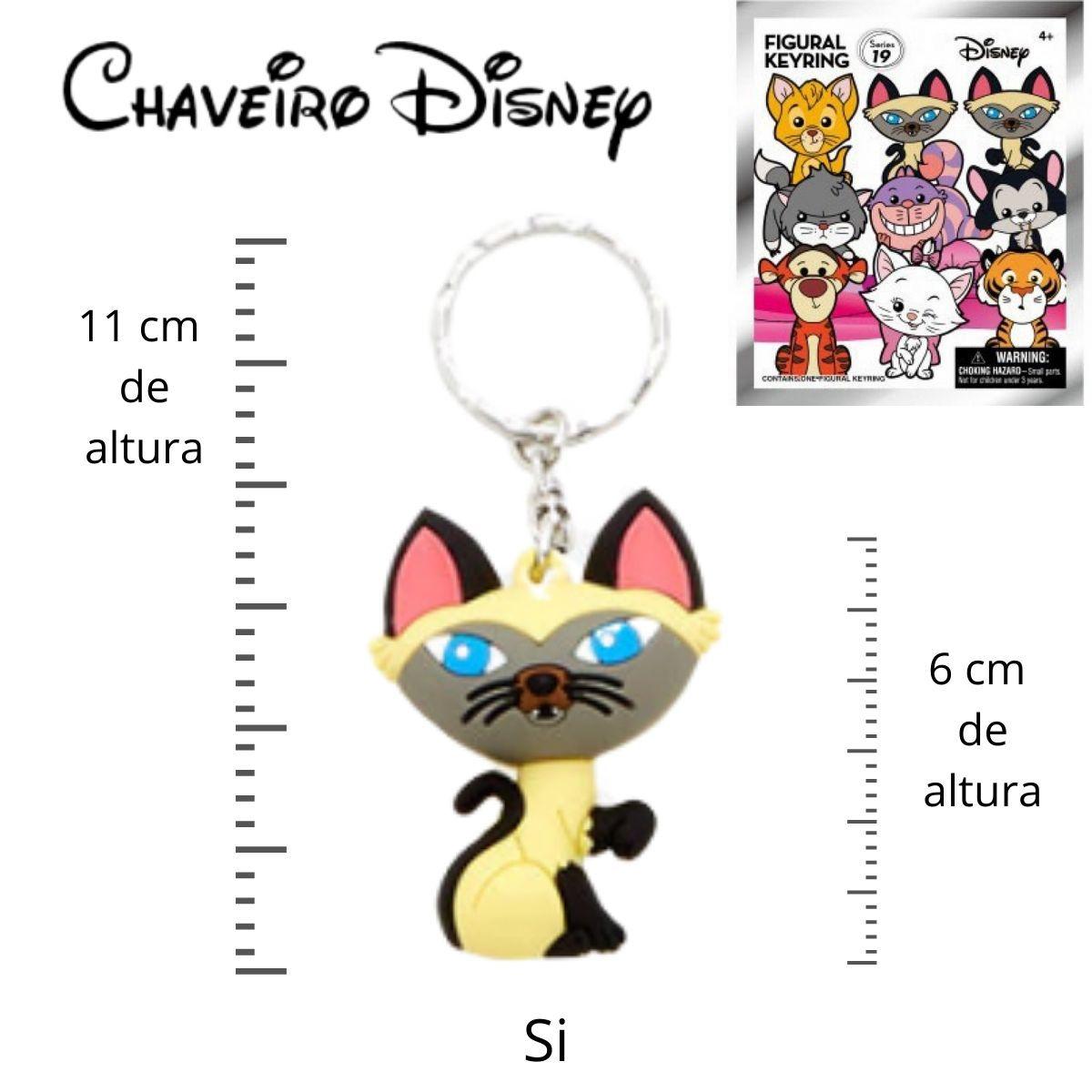 Chaveiro Disney Gato Si - Filme A Dama e o Vagabundo  - Game Land Brinquedos