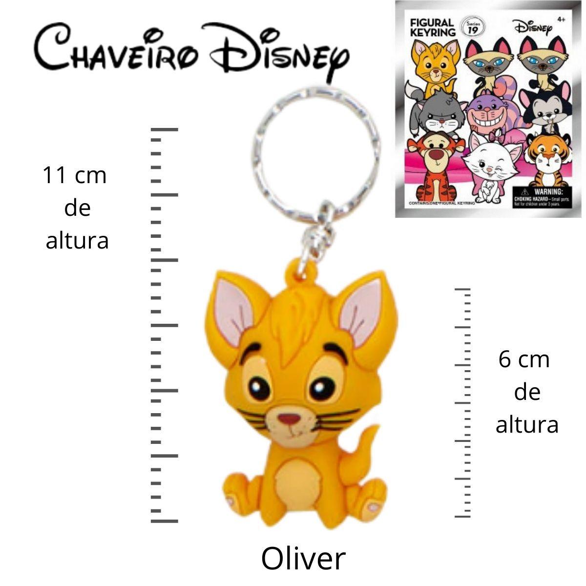 Chaveiro Disney Oliver do Filme Oliver e Sua Turma  - Game Land Brinquedos