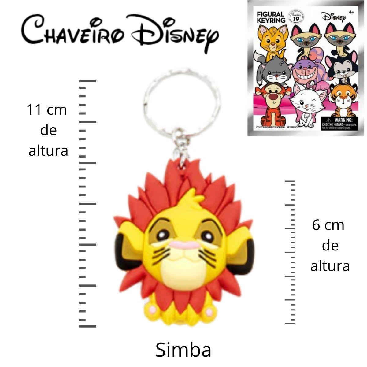 Chaveiro Disney Simba Rei Leão  - Game Land Brinquedos