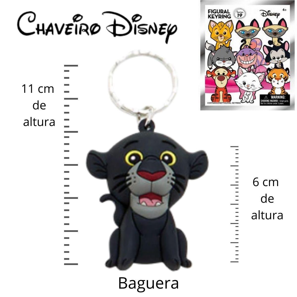 Chaveiro Disney Baguera - Filme Mogli  - Game Land Brinquedos