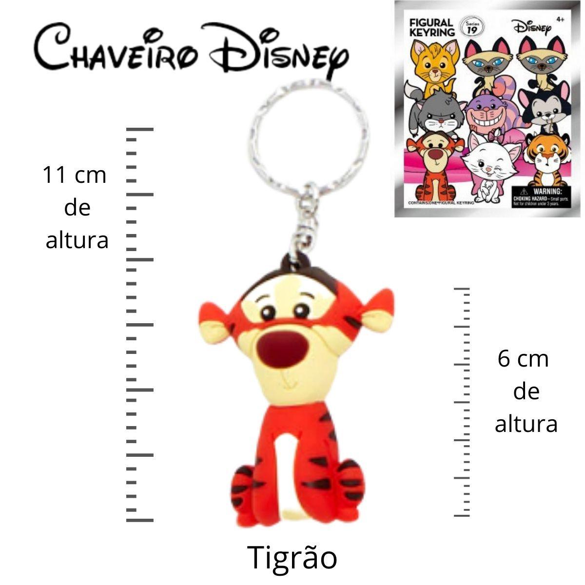 Chaveiro Disney Tigrão - Turma do Pooh  - Game Land Brinquedos
