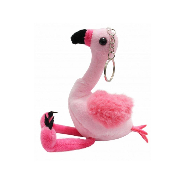 Chaveiro Flamingo de Pelúcia para mochila e bolsa 17 cm   - Game Land Brinquedos