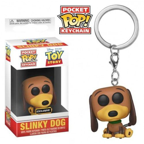 Chaveiro Funko Exclusivo Toy Story 4 Slinky Dog   - Game Land Brinquedos