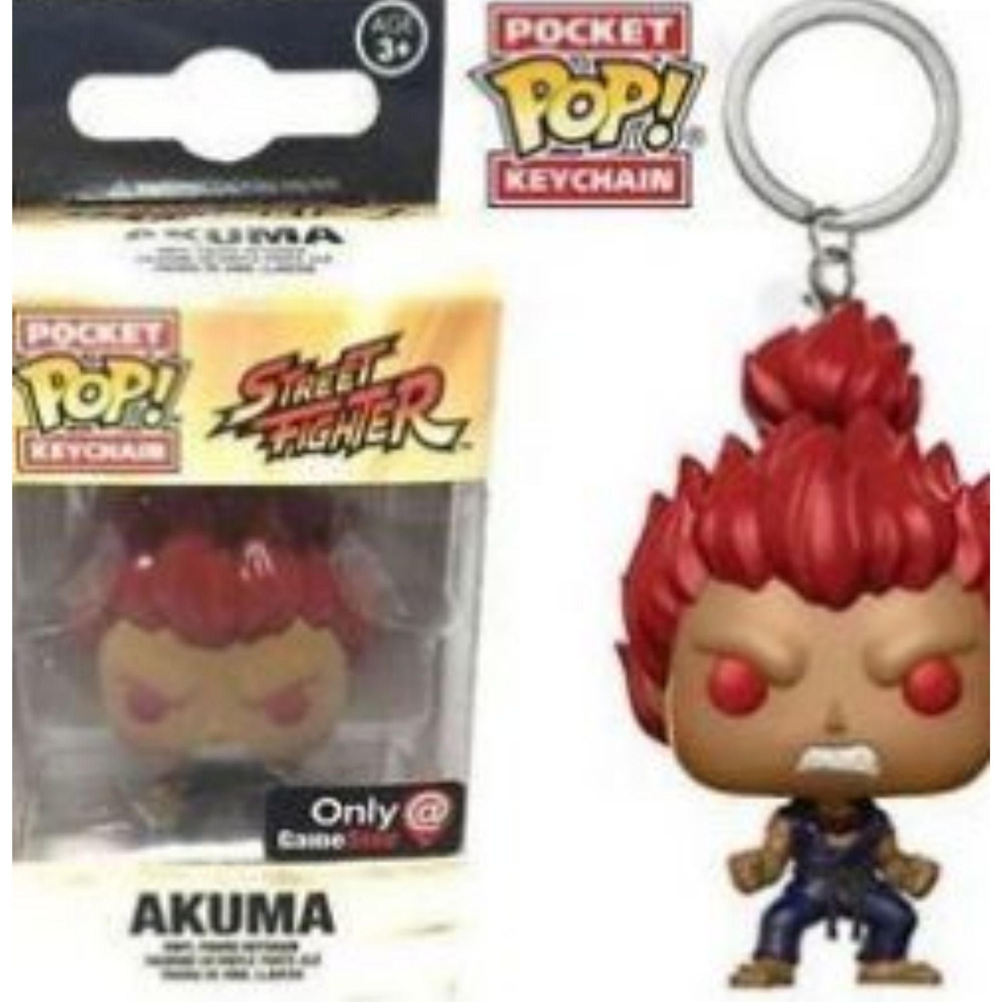 Chaveiro Funko Pop Street Fighter Akuma Exclusivo GameStop  - Game Land Brinquedos