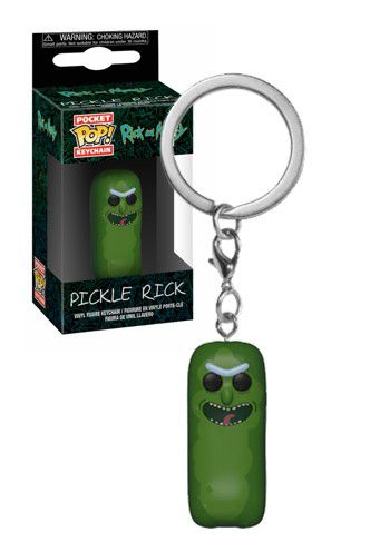 Chaveiro Funko Rick e Morty Pickle Rick  - Game Land Brinquedos