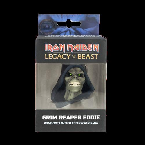 Chaveiro Oficial Iron Maiden Legacy of the Beast  Grim Reaper Eddie Edição Limitada  - Game Land Brinquedos