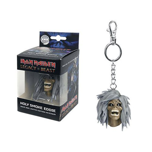 Chaveiro Oficial Iron Maiden Legacy of the Beast Holy Smoke Eddie Edição Limitada  - Game Land Brinquedos