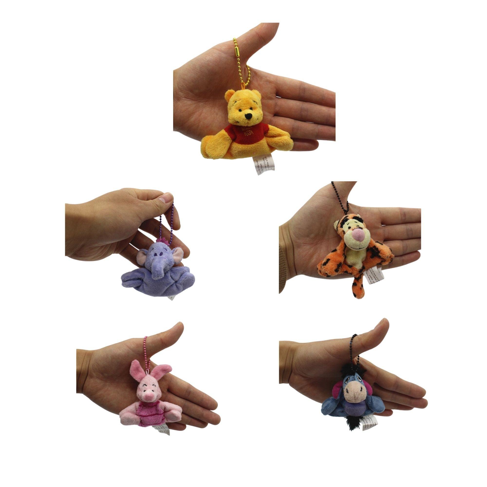 Chaveiros da Turma do Pooh com 5 personagens para mochila e agarradinhos  - Game Land Brinquedos