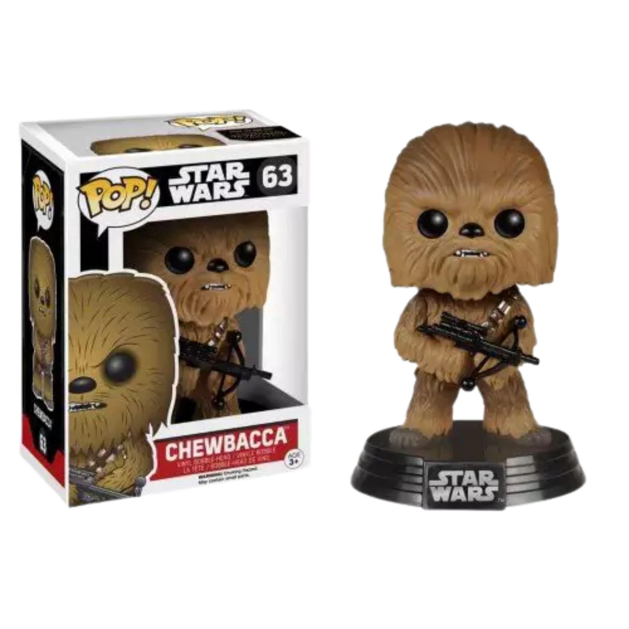 Chewbacca Boneco Funko Pop Star Wars #63  - Game Land Brinquedos