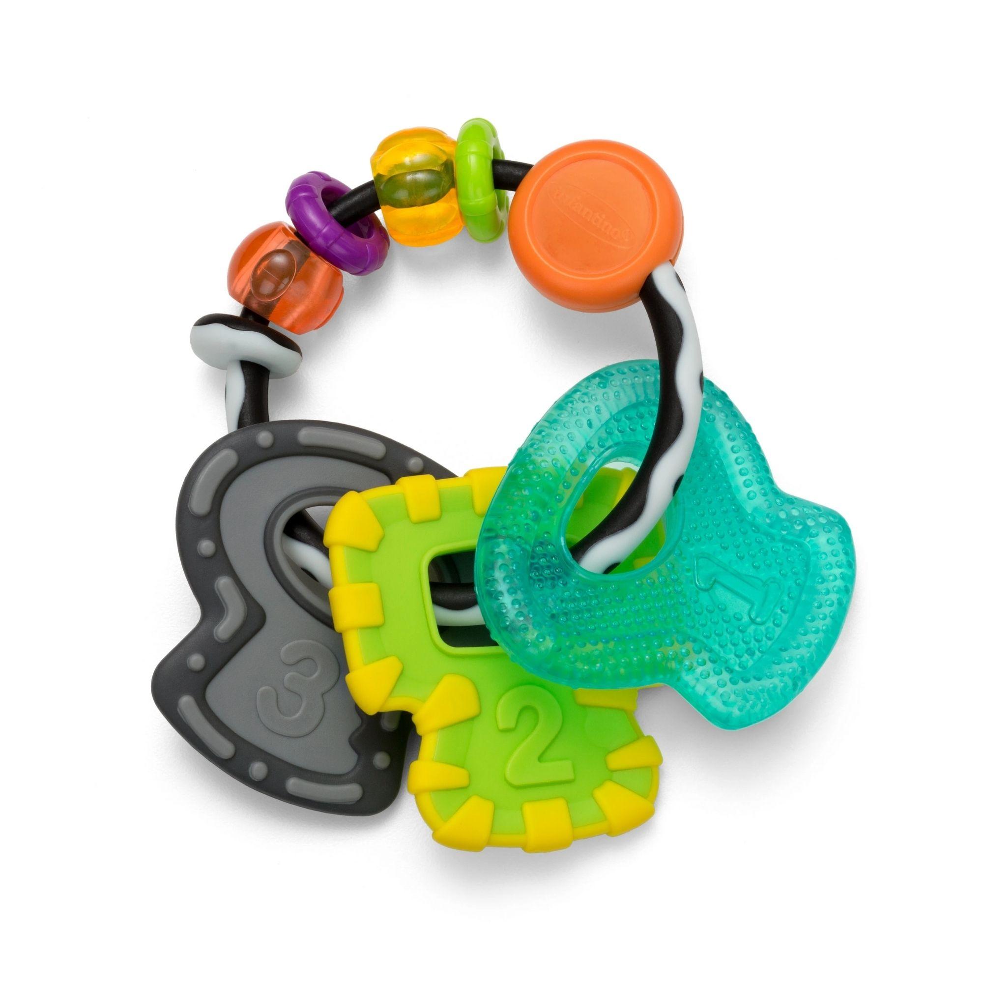 Chocalho Mordedor para bebê Chaveiro Infantino  - Game Land Brinquedos