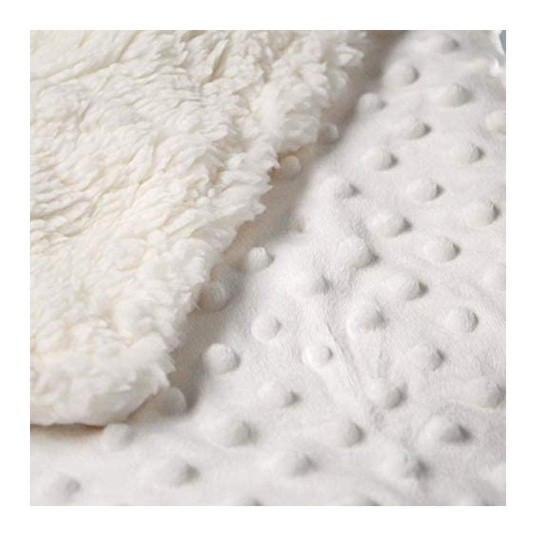 Cobertor Bebê Plush Com Sherpa Dots Branco Bolinhas  - Game Land Brinquedos