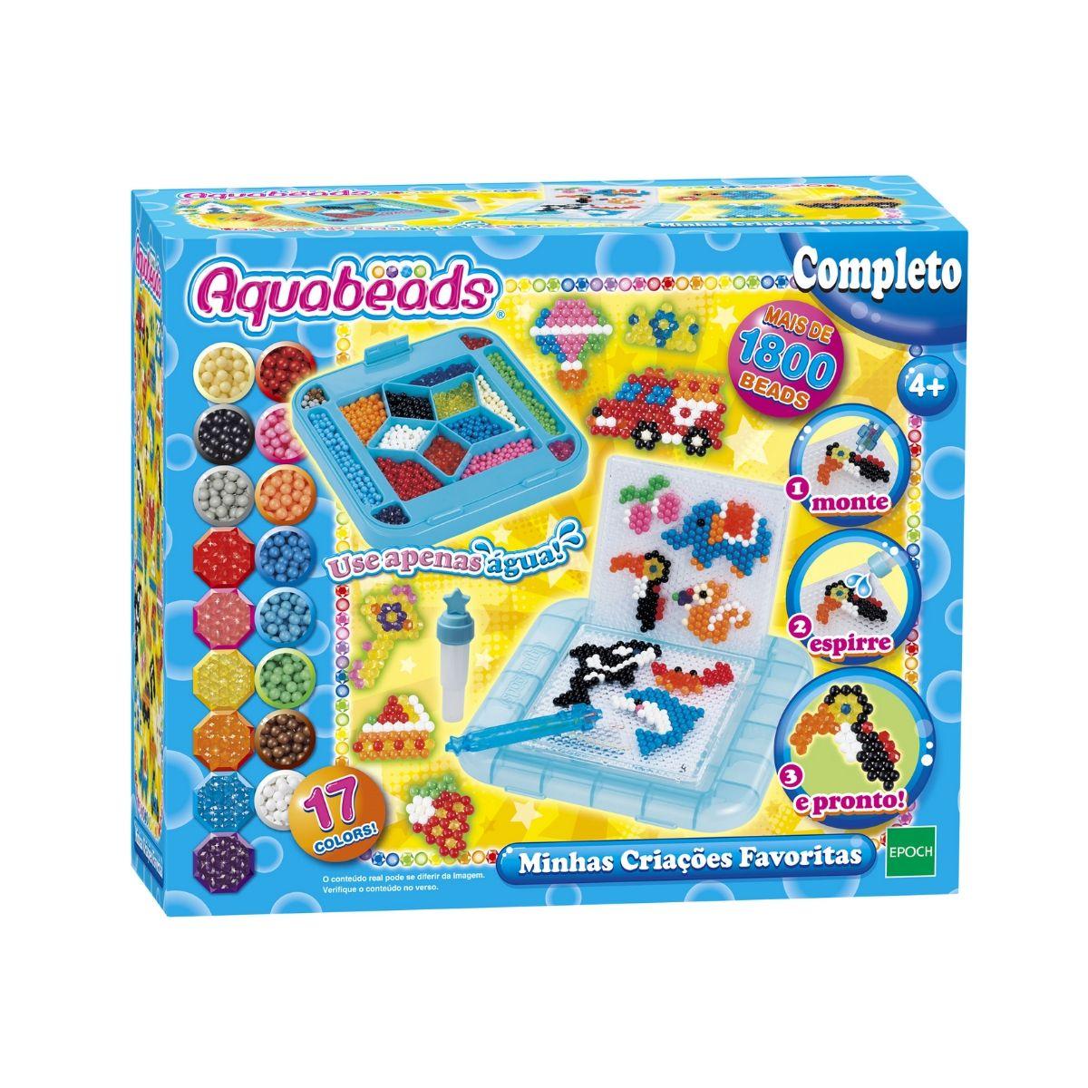Combo Aquabeads Minhas Criações + Fábrica de Bijuterias  - Game Land Brinquedos