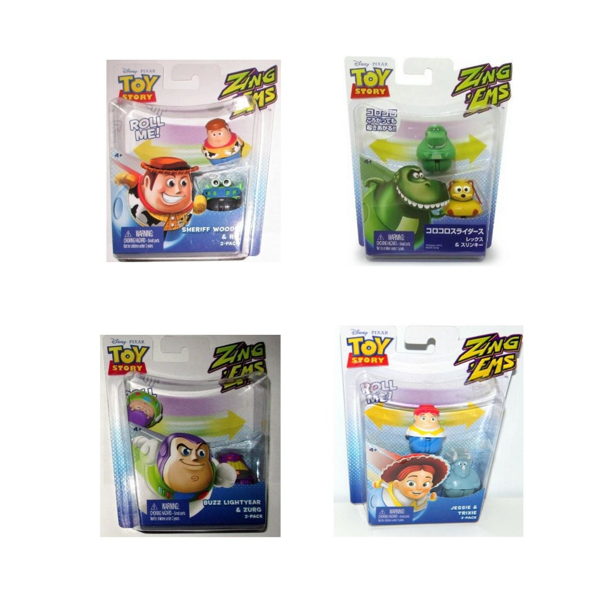 Conjunto de Bonecos Toy Story Zingems Mattel  - Game Land Brinquedos