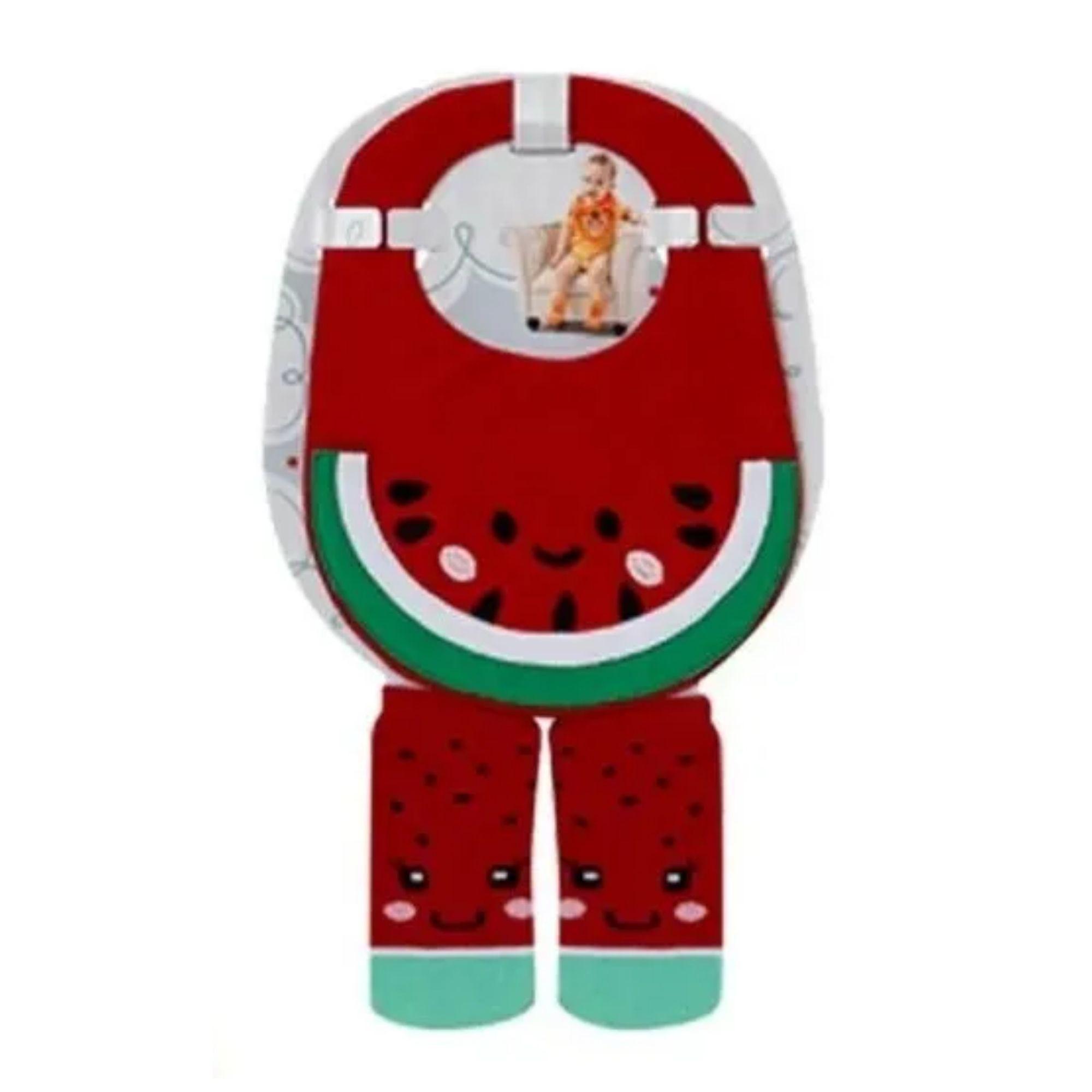 Conjunto para bebê babador + meia estampa divertida 4 a 8 meses  - Game Land Brinquedos