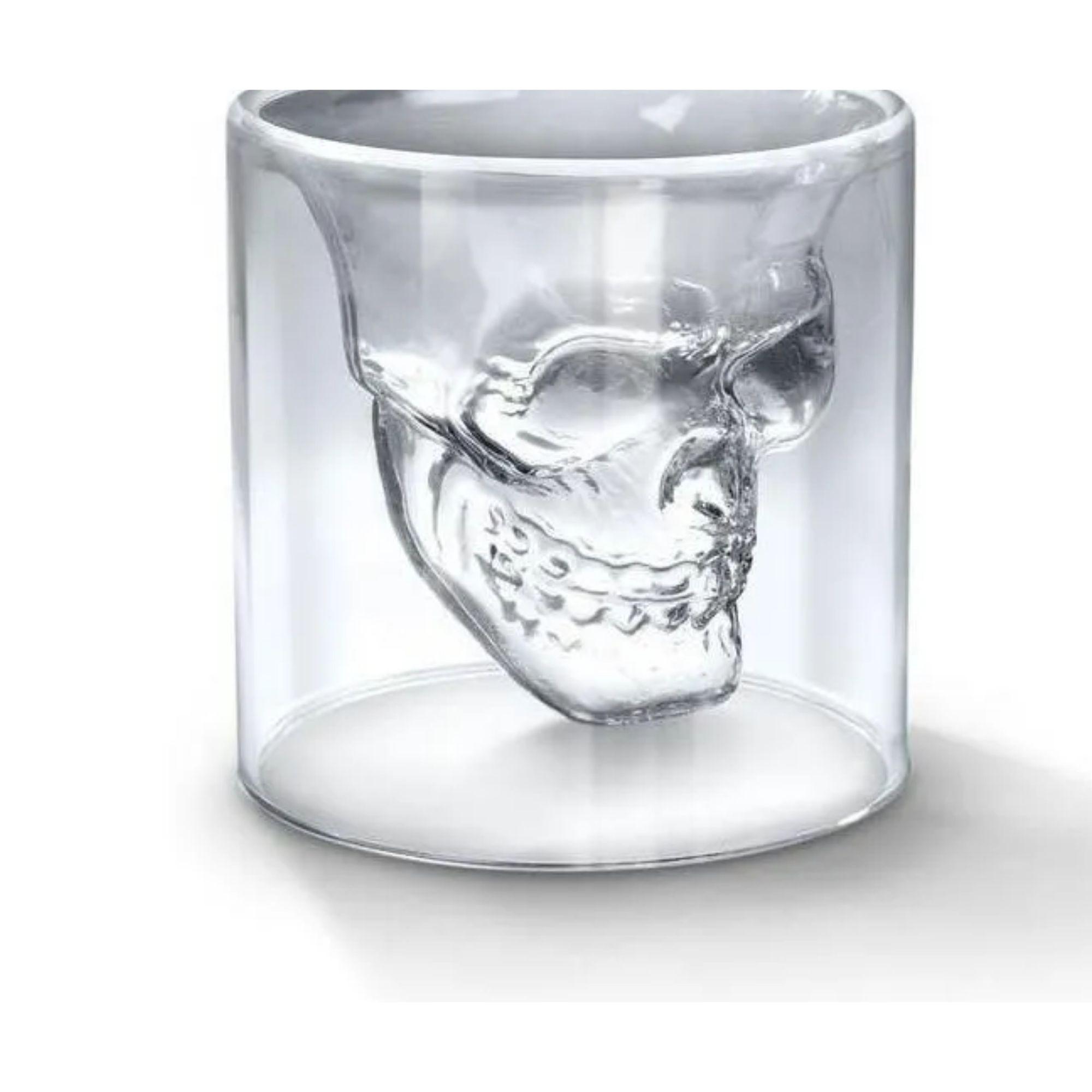 Copo Caveira Doomed Skull Shot Vidro 300 ml  - Game Land Brinquedos