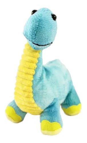 Dinossauro de Pelucia Bebe Braquiossauro Azul 21 cm   - Game Land Brinquedos