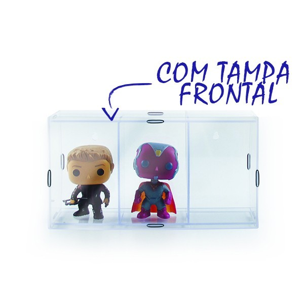 Estante Expositor Funko Pop com 3 Nichos e Tampa  - Game Land Brinquedos