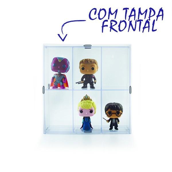Estante Expositor Funko Pop com 6 Nichos e Tampa  - Game Land Brinquedos