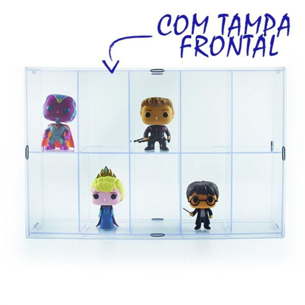 Expositor para Funko - 10 Nichos - Com Tampa  - Game Land Brinquedos