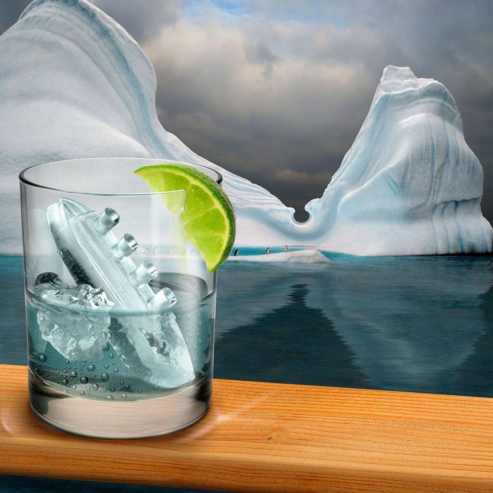 Forma de gelo em forma de Navio Titanic  - Game Land Brinquedos