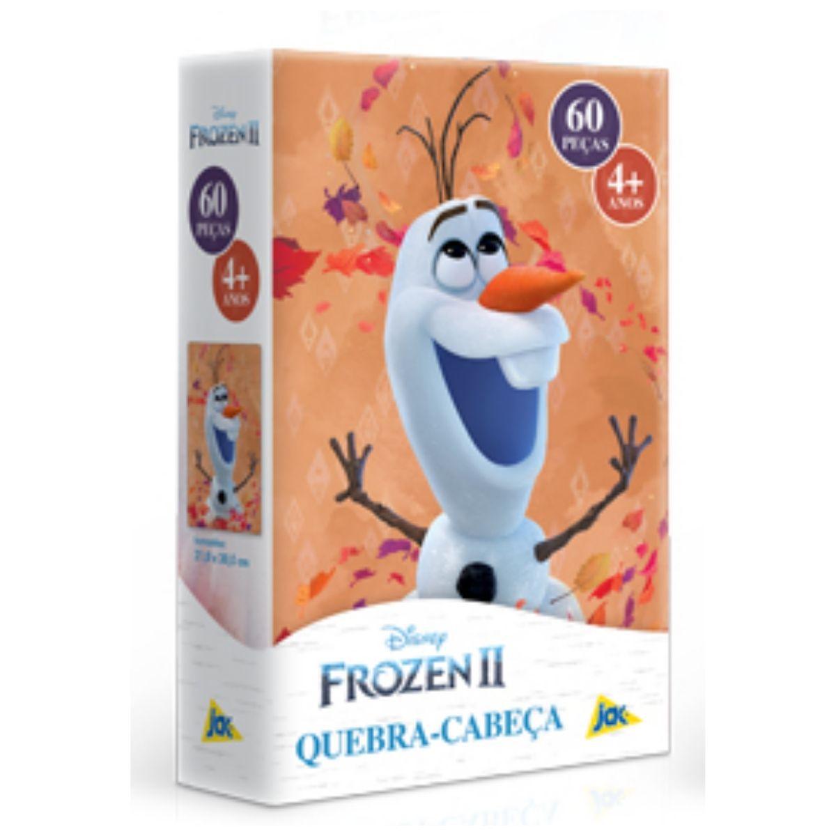 Frozen 2 Olaf Quebra Cabeça Infantil 60 peças  - Game Land Brinquedos