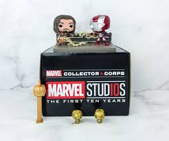 Funko Box Collectors Collector Corps Marvel Studios 10 Years  - Game Land Brinquedos