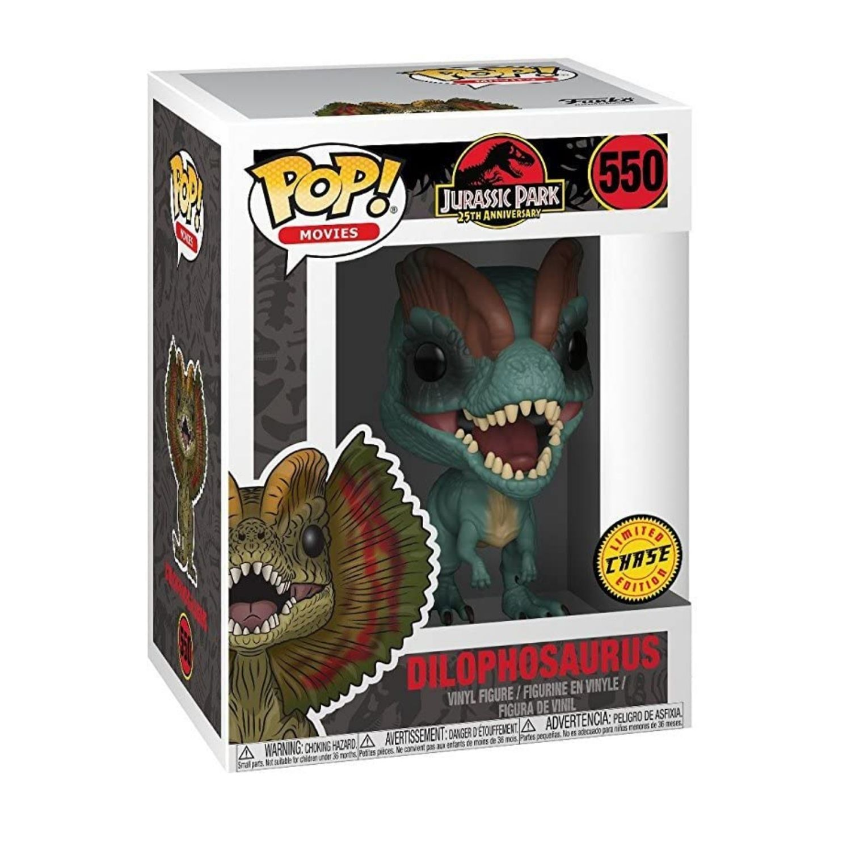 Funko Chase Jurassic Park Dilophosaurus #550  - Game Land Brinquedos