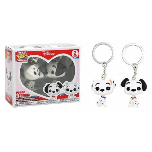 Funko Chaveiro Disney Pack com Pongo e Perdita Dalmatas Keychain Funko